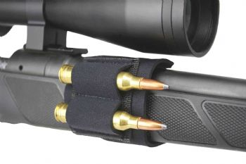 Beartooth Sidecart Neoprene 2-round Hunting Rifle Foregrip ammo carrier - Black